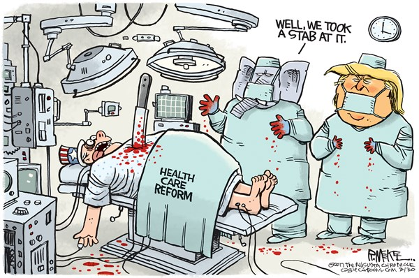 heathcare reform cartoon